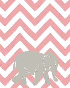 Personalized Chevron Animal Wall Art for Nursery, Baby Girl & Baby Boy Rooms,  Personalized Childrens, Art for Nursery, Twofish Prints. $18.00, via Etsy.