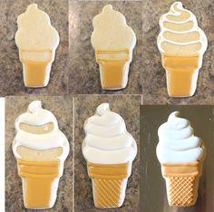 Soft Serve Ice Cream Cone Cookie (Tutorial)