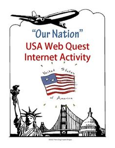 This two page web quest allows students to use their internet search and interpretation skills to learn more about the USA, Washington D.C. and its make-up. There are 20 questions in all. Students use the website Bens Guide to US Government to find information. Kid-friendly graphics have been added to make it more appealing to your students.