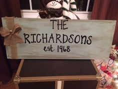 Personalized Wooden Sign by LilyandTuck on Etsy, $50.00