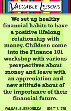 Children with a solid foundation of financial knowledge have an advantage over all the rest!