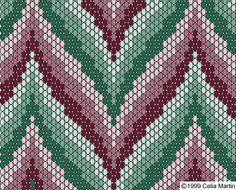 bargello pattern using peyote stitch