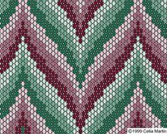 bargello pattern using peyote stitch