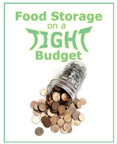 Tips for food storage on a tight budget