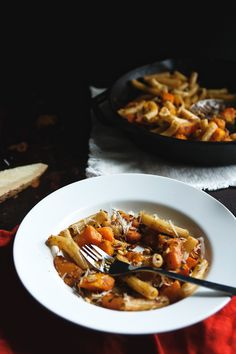 pasta with butternut squash, sage & pine nuts