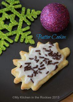 German Butter Cookies - Butterplätzchen  by Kirsten | My Kitchen in the Rockies #Christmas #cookies #baking #German
