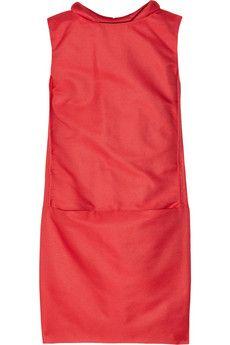 Victoria, Victoria Beckham Jacquard Cocoon Mini Dress in Raspberry UK 6GBP 429.17
