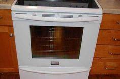 How to clean between the door glass of an oven