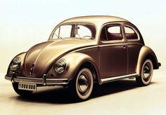 Gold vw beetle