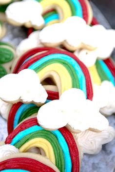 St. Patrick's Day rainbow cookies