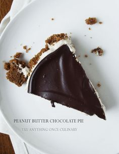 No Bake Peanut Butter Chocolate Pie is a quick and easy way to enjoy the best flavor combination ever!
