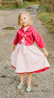 Adorable dress with bolero jacket.