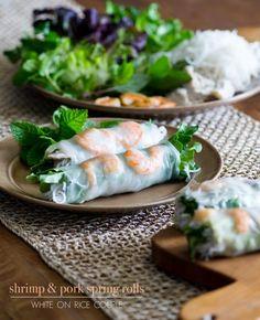 Vietnamese Pork and Shrimp Spring Rolls / White On Rice Couple