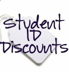 Student ID Discounts- I DIDNT KNOW HALF OF THESE. AMAZING for high schools and college IDs