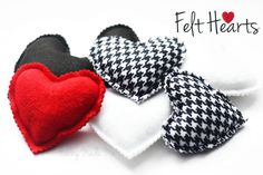 Sweet Felt Hearts Craft Tutorial! #felt #hearts #valentines #day