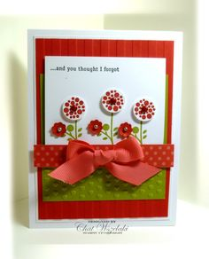 Me, My Stamps and I: Bright Blossoms, stampin up