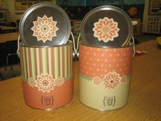 Clean out & reuse old paint cans for gift cartons! What an awesome idea!