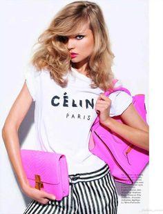 We love the pink celine box bag