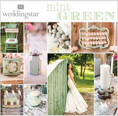 Mint Green Wedding Inspiration || Wedding Color || Vintage Green || Seafoam || Wedding Palette || Wedding Theme