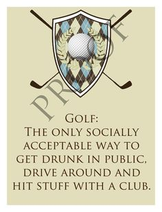Custom Humorous Father's Day Golf Wine Label on Etsy, $1.50