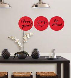 WallPops Red Hot Dry-Erase Dots #walldecals  #wallart  #peelandstick  #WallPops  #wallstickers  #decor  #DIY  #decorating