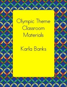Weekly Freebie: FREE Word Wall Resource from Karla Banks on TpT  Olympic Themed Classroom Materials