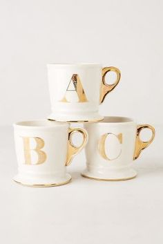 GOLD & WHITE MUGS