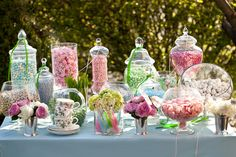 spring candi, wedding receptions, sweet tables, spring weddings, wedding candy buffet, desert tabl, wedding events, candi buffet, bridal showers