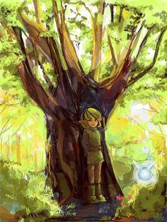 Saria. #Link #Zelda #Saria #Forest Temple #Sage #Green