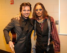 Juanes and Johnny Depp