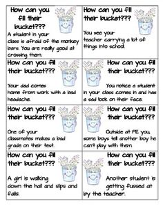 have you filled a bucket printable | just b.CAUSE