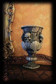 Halloweenifed Large Vase by DavisGraveyard on Etsy