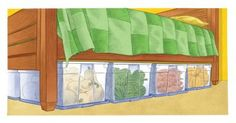 Storage Crops In Bedroom and more ideas from Mother Earth News