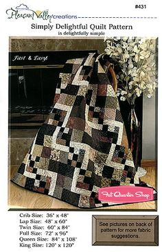 Simply Delightful Quilt Pattern Pleasant Valley Creations #431
