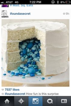 Cute cake for reveal