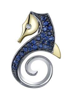 Stevem Douglas seahorse pendant pendant slide, dougla seahors, seahors pendant