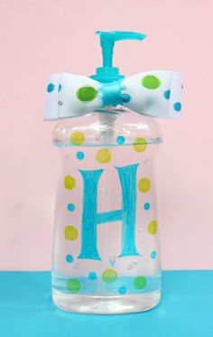 Back to School Teacher Gift: Decorated Hand Sanitizer Bottles