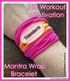 Need a motivational pick-me-up? This DIY bracelet could do the trick!