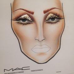 bronze, contours, drawings, makeup chart, face charts