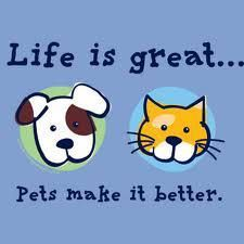 Quotes say pets make life whole. :)
