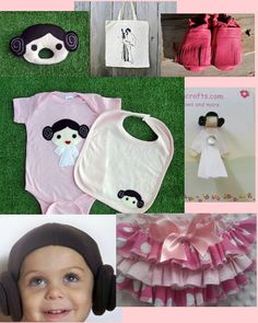 princess leia baby :)  Star Wars style for baby girls