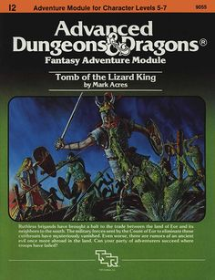 I2 Tomb of the Lizard King (1e) | Book cover and interior art for Advanced Dungeons and Dragons 1.0 - Advanced Dungeons & Dragons, D&D, DND, AD&D, ADND, 1st Edition, 1st Ed., 1.0, 1E, OSRIC, OSR, Roleplaying Game, Role Playing Game, RPG, Wizards of the Coast, WotC, TSR Inc. | Create your own roleplaying game books w/ RPG Bard: www.rpgbard.com