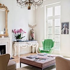 eclectic living room- love