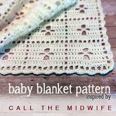 Call the Midwife Inspired Baby Blanket, free pattern by Little Monkeys Crochet  afghan throw ✿⊱╮Teresa Restegui http://www.pinterest.com/teretegui/✿⊱╮