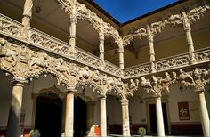 Infant's (prince's) Palace yard in Guadalajara (Spain)