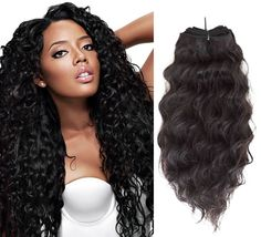Curly hair weave.