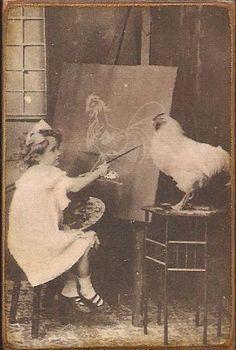 Chicken art =) @Heather Murray