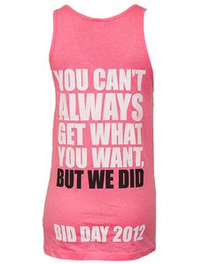 This is the greatest bid day shirt! :)