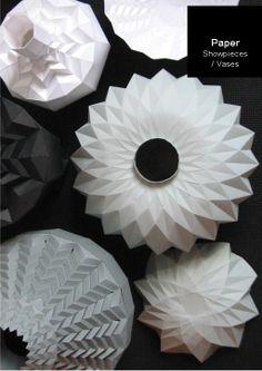 Paper Vases - Romy Kuhne.