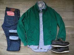Golden Bear Kelly Green Cotton Cord Barracuda Jacket (Made in USA).  Men's Medium. Available now in our eBay shop!